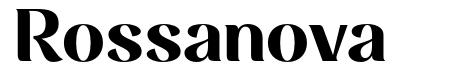 Rossanova font