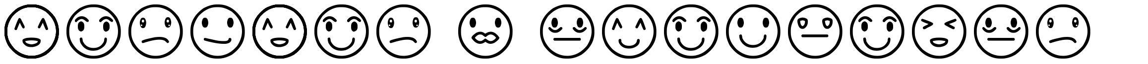 Rostros y emociones font