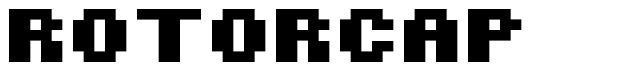 Rotorcap font