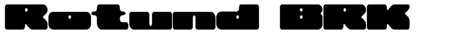 Rotund BRK шрифт