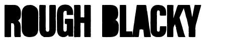 Rough Blacky font