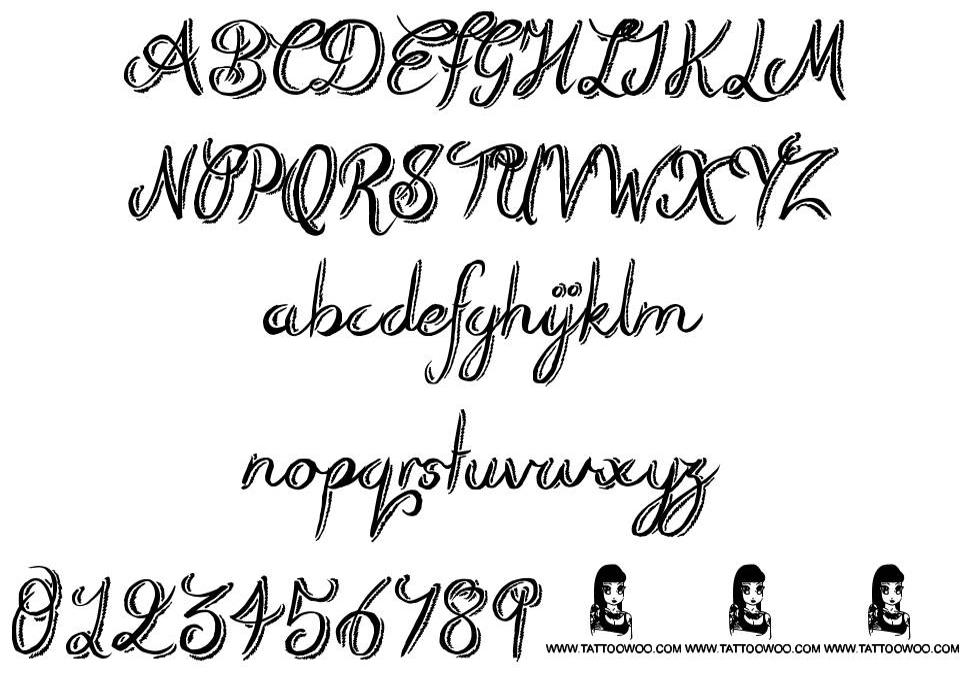 Rough Script font