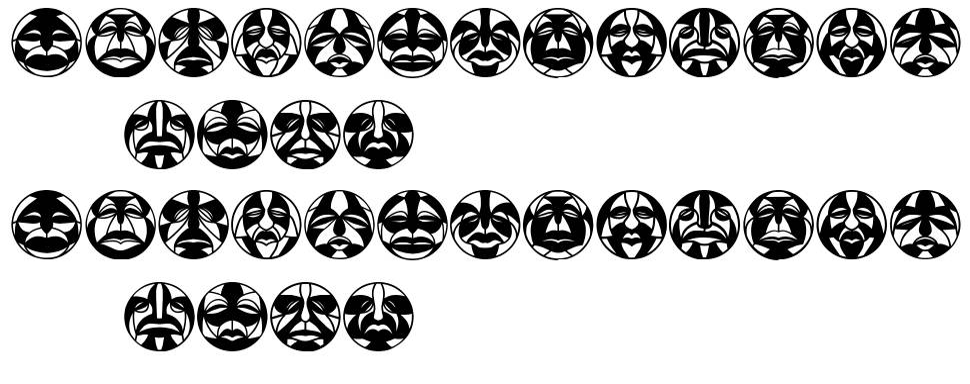 Round Masks font