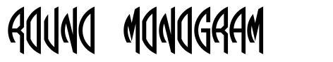 Round Monogram fonte