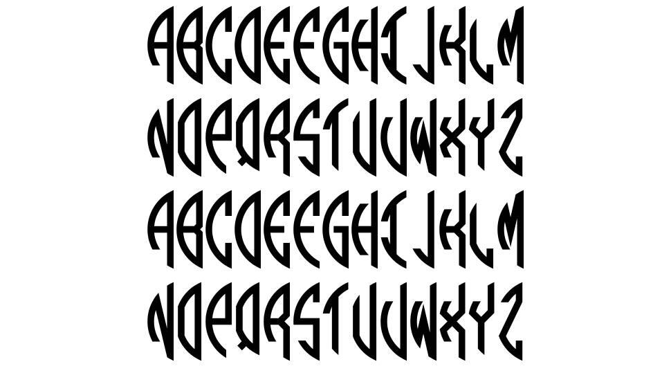 Round Monogram шрифт