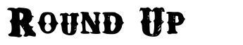 Round Up шрифт