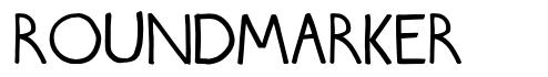 Roundmarker font