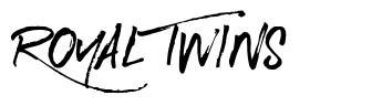 Royal Twins font