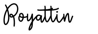 Royattin font