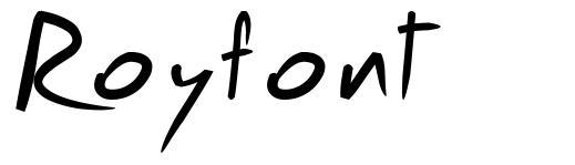 Royfont font