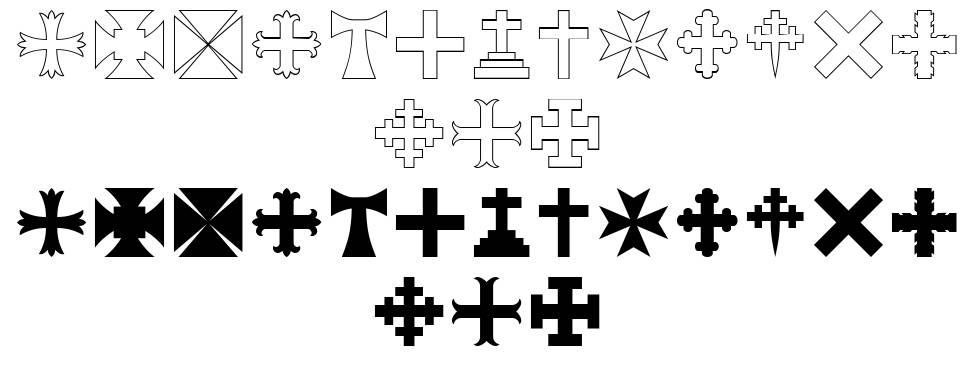 RTA Cross font