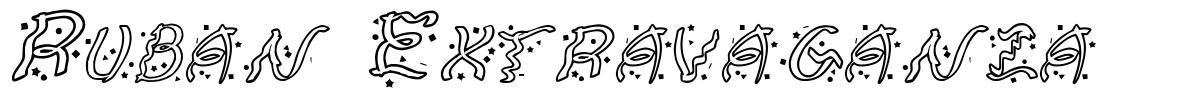 Ruban Extravaganza font