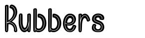 Rubbers font