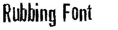 Rubbing Font fonte