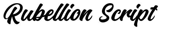 Rubellion Script fuente
