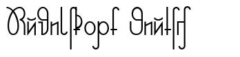 Rudelskopf Deutsch font