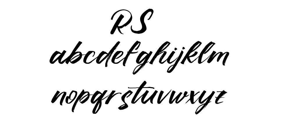 Ruffle Script czcionkę