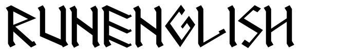 RunEnglish font