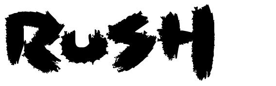 Rush font