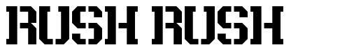 Rush Rush шрифт