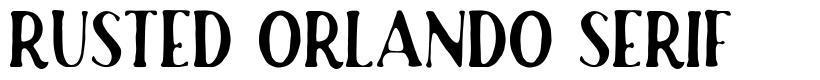 Rusted Orlando Serif schriftart
