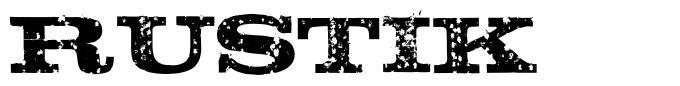 Rustik font