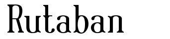 Rutaban шрифт
