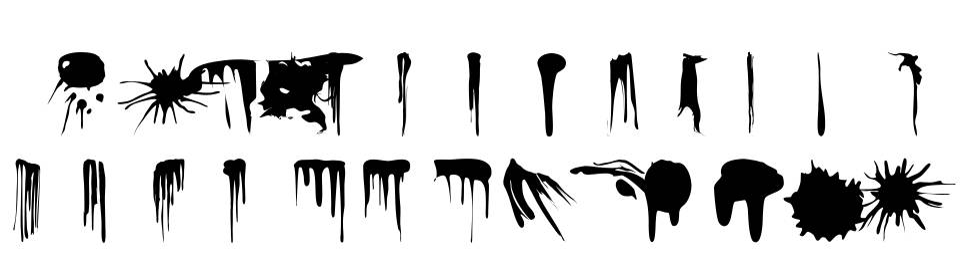 RVD_splats_n_drips font