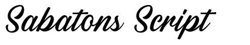 Sabatons Script font