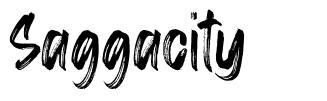 Saggacity font