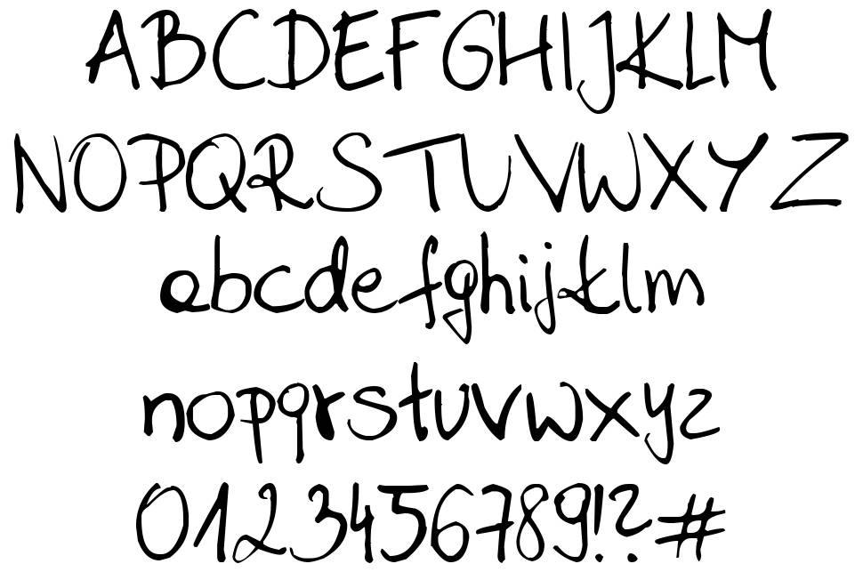 Sahara Handwriting font