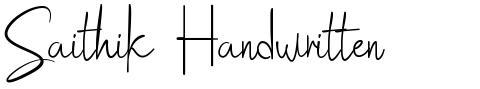 Saithik Handwritten