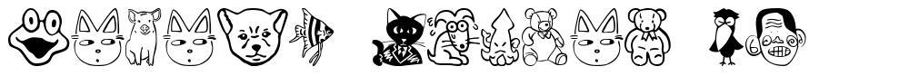 Sakabe Animal 01 schriftart