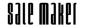 Sale Maker फॉन्ट