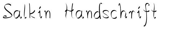 Salkin Handschrift
