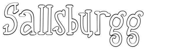Sallsburgg font