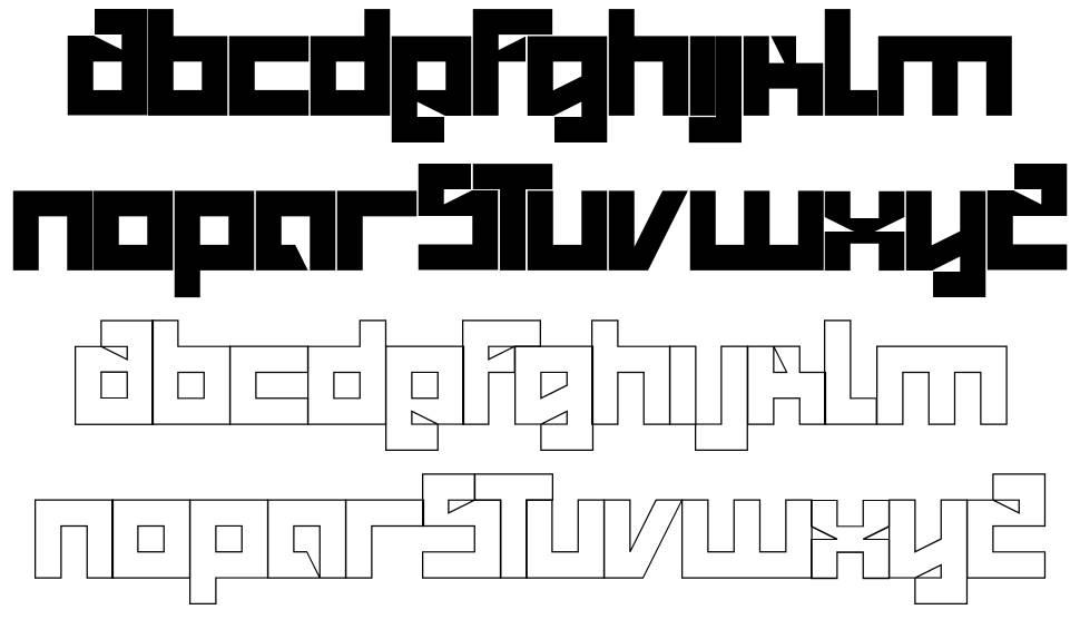 Salty font