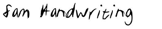 Sam Handwriting