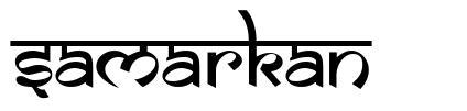 Samarkan 字形