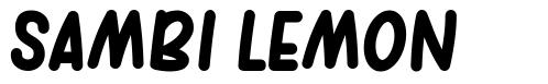 Sambi Lemon font