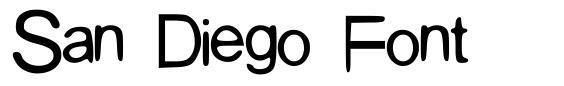 San Diego Font font