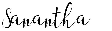 Sanantha font