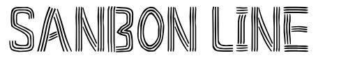 Sanbon Line font