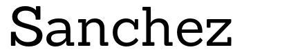 Sanchez font