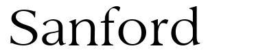 Sanford 字形