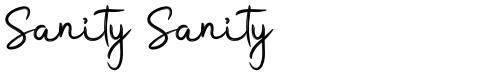 Sanity Sanity
