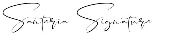 Santeria Signature schriftart