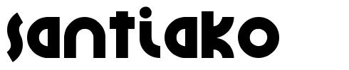 Santiako font
