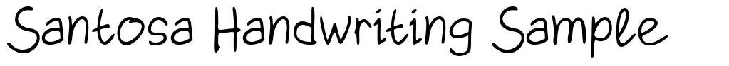 Santosa Handwriting Sample