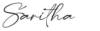 Saritha písmo